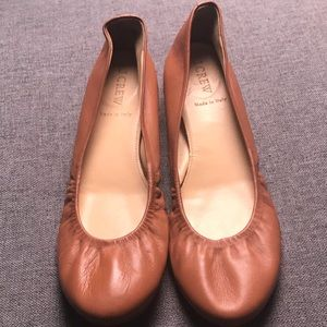 J. CREW CECE LEATHER BALLET FLATS Size 8